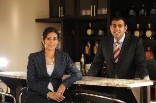 Siblings Ravinder and Manjit Minhas at the Minhas Micro Brewery