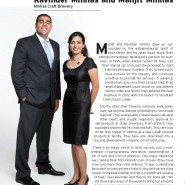 Manjit Minhas & Ravinder Business To Consumer Products Ernst & Young Entrepreneur of the Year