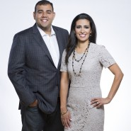 CBC Dragons den Dragon Manjit Minhas with her brother and business partner Ravinder Minhas