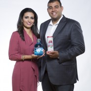 CBC Dragons Den dragon Manjit Minhas & co-founder brother Ravinder Minhas with their Polo Club Gin from Minhas Distillery