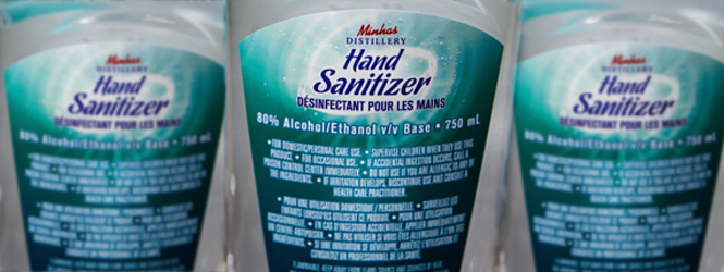 Minhas Breweries and Distilleries have begun fulltime production of hand sanitizer